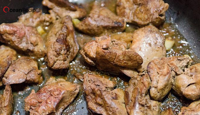 Baked Chicken Livers
